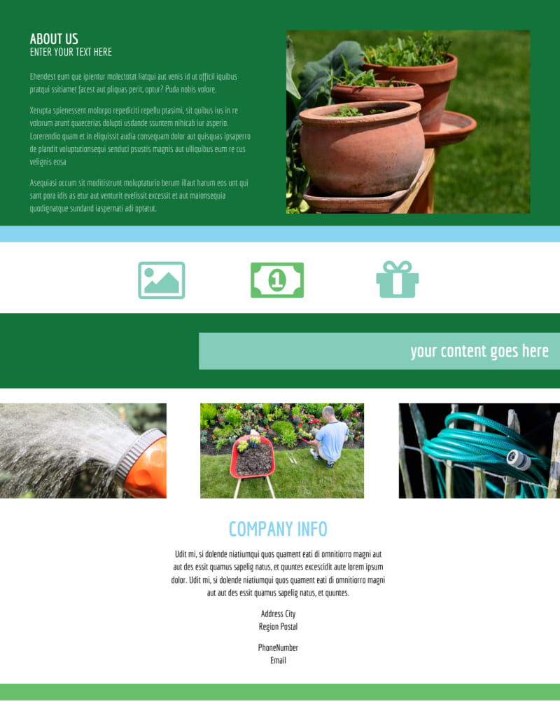 Farm & Garden Supplies Flyer Template Preview 3