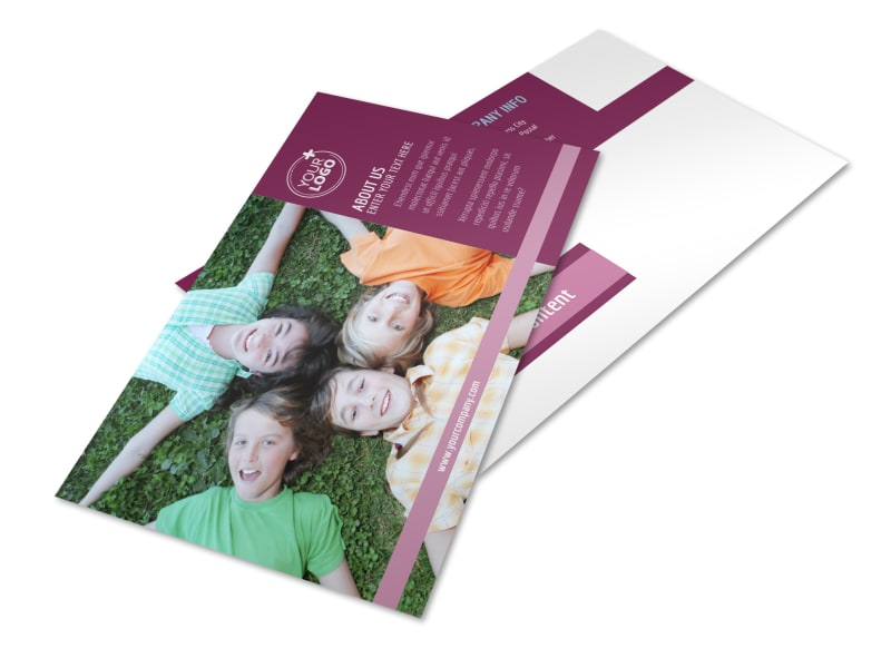 Outdoor Summer Camp Postcard Template 2