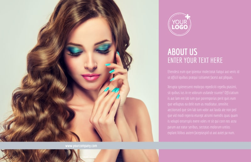 Professional Makeup Artist Postcard Template Preview 2