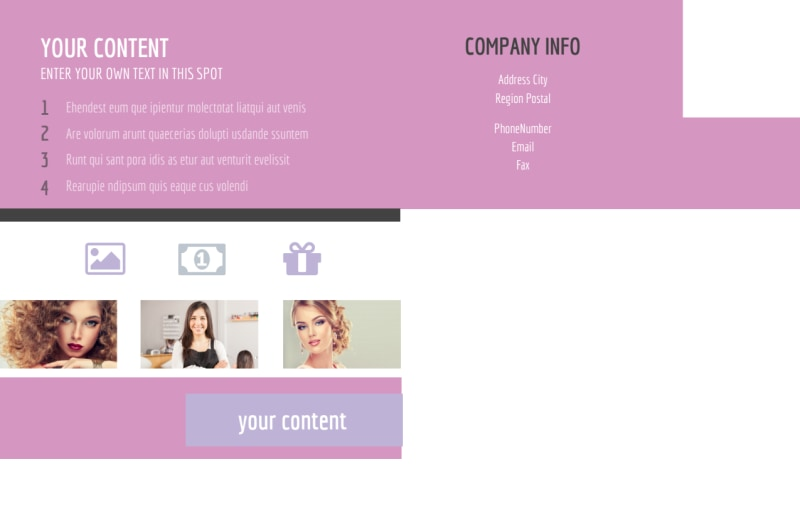 Professional Makeup Artist Postcard Template Preview 3