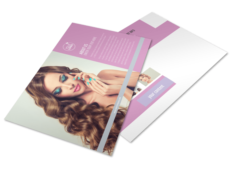 Professional Makeup Artist Postcard Template Preview 1