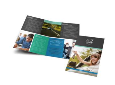 Local Driving School Bi-Fold Brochure Template