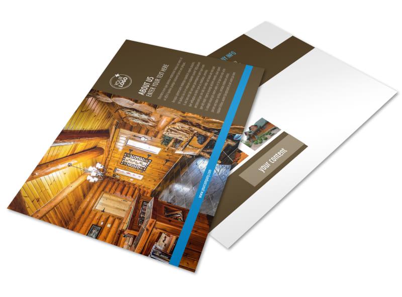 Log & Timber Frame Homes Postcard Template Preview 4