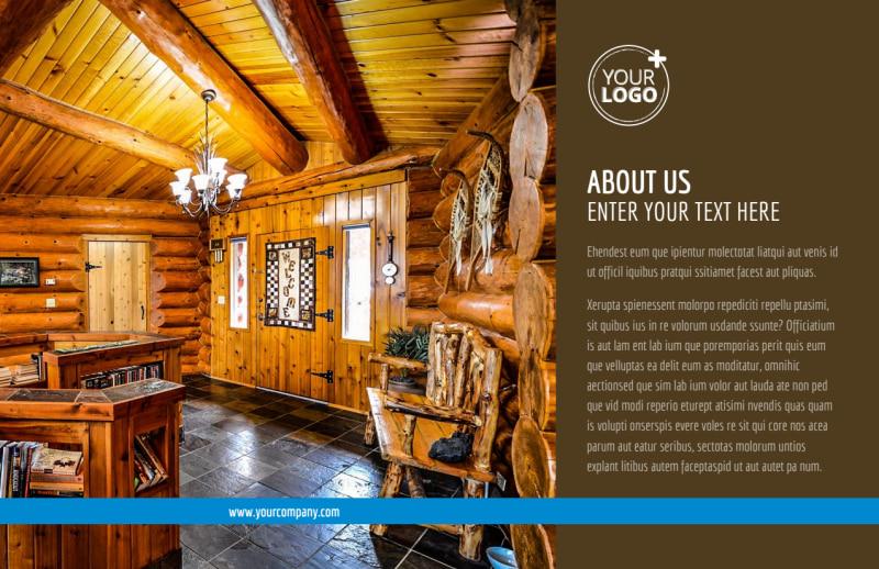 Log & Timber Frame Homes Postcard Template Preview 2