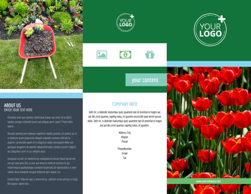 Farm & Garden Supplies Brochure Template Preview 2
