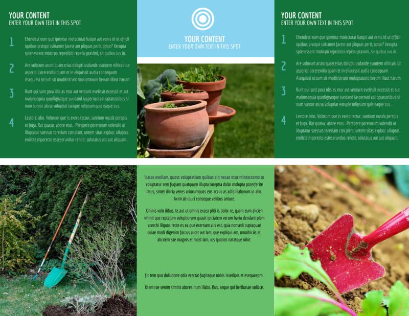 Farm & Garden Supplies Brochure Template Preview 3