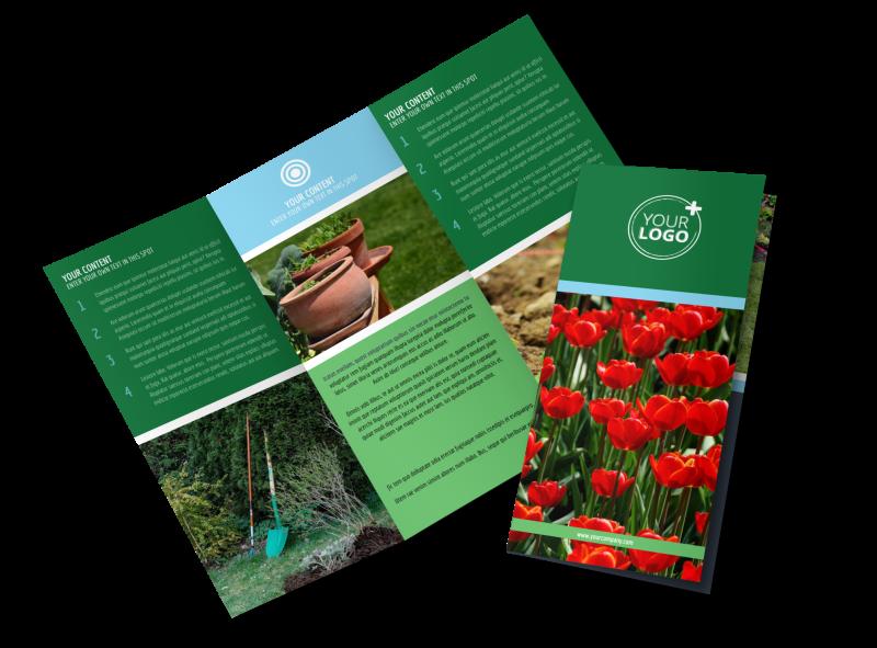 Farm & Garden Supplies Brochure Template Preview 1
