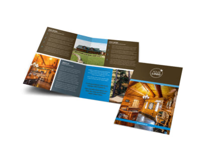 Log & Timber Frame Homes Bi-Fold Brochure Template