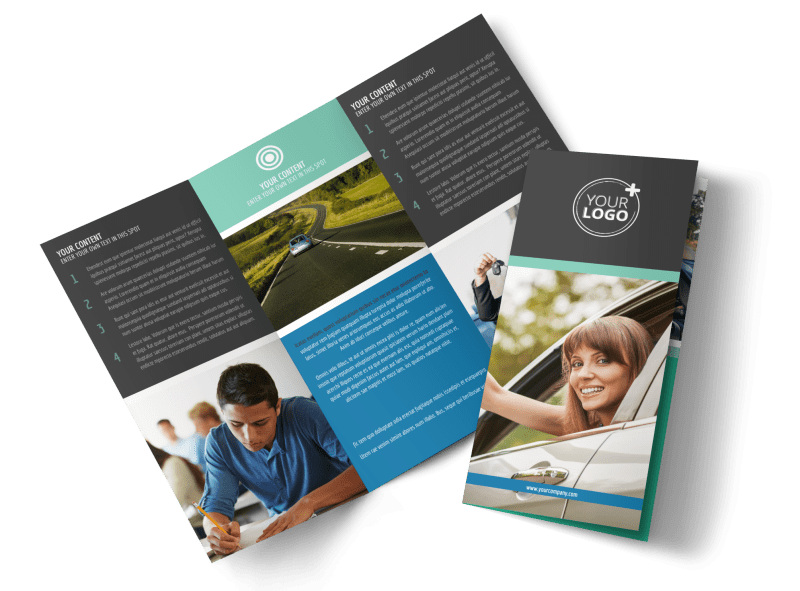 Local Driving School Brochure Template MyCreativeShop - Tri fold school brochure template