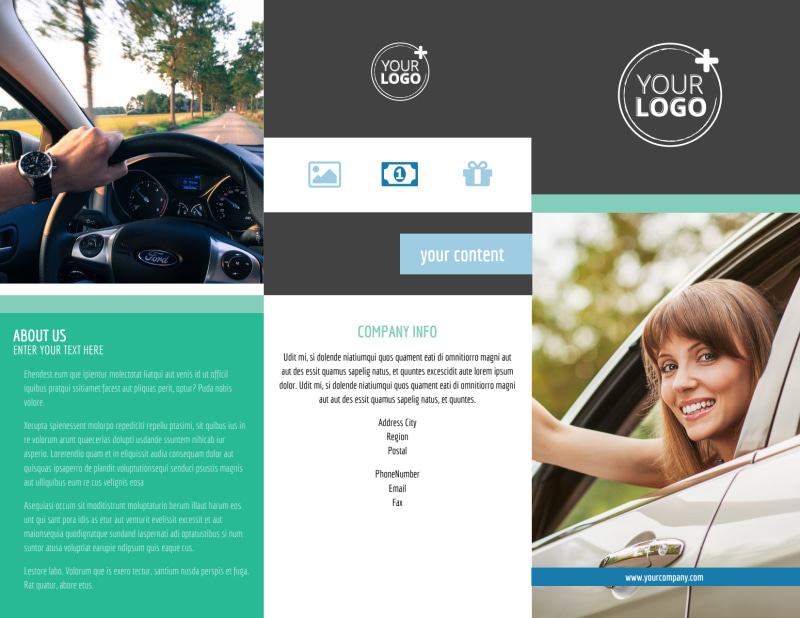 Local Driving School Brochure Template Preview 2