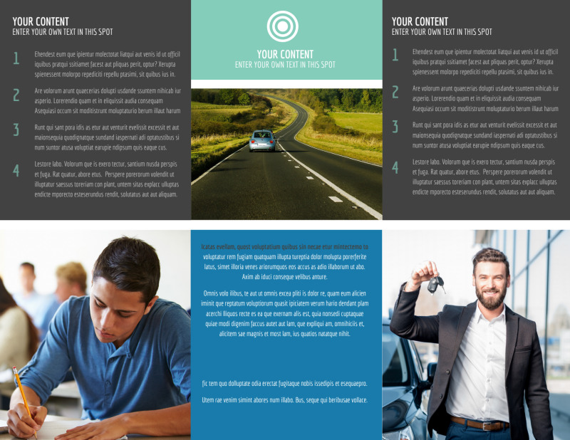 Local Driving School Brochure Template Preview 3
