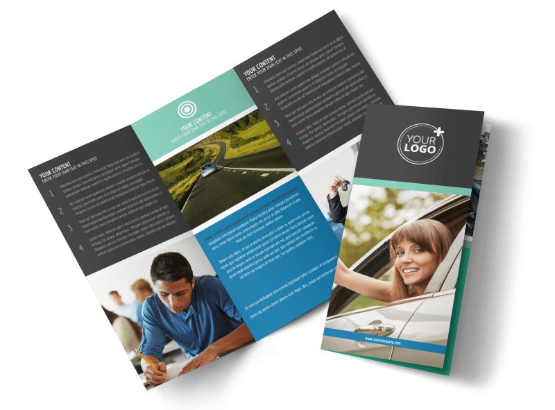 Local Driving School Brochure Template Preview 1