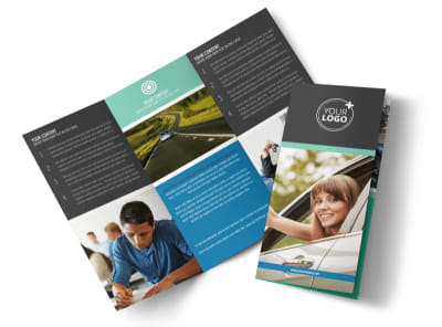 Local Driving School Tri-Fold Brochure Template