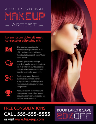 Professional Makeup Artist Flyer Template Preview 2