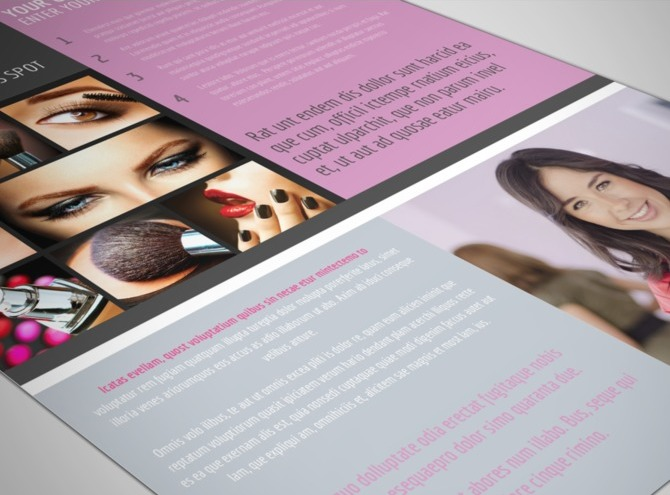 Professional makeup artist flyer template for Aspx login page template