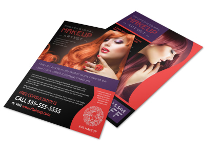 Professional Makeup Artist Flyer Template