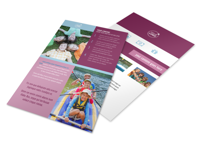 Outdoor Summer Camp Flyer Template Preview 1