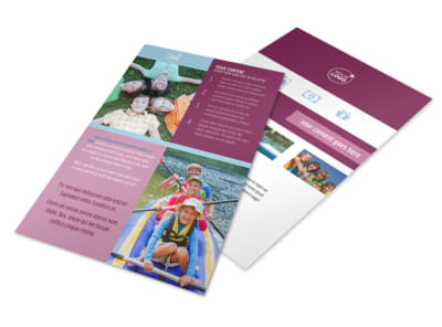 Outdoor Summer Camp Flyer Template 3