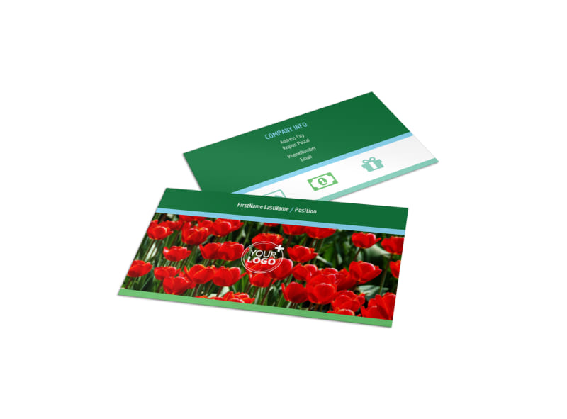 Farm & Garden Supplies Business Card Template Preview 4