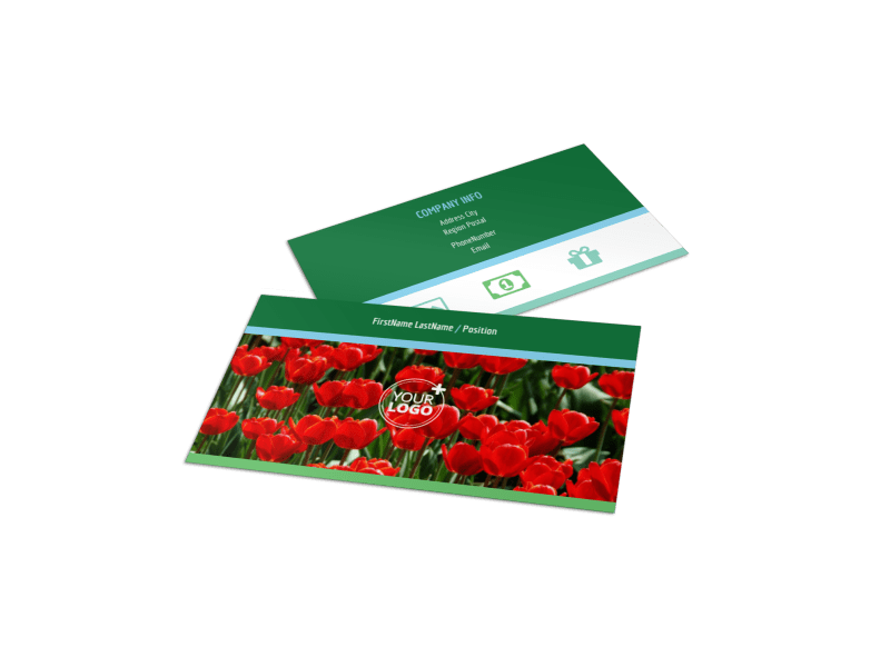 Farm & Garden Supplies Business Card Template Preview 1