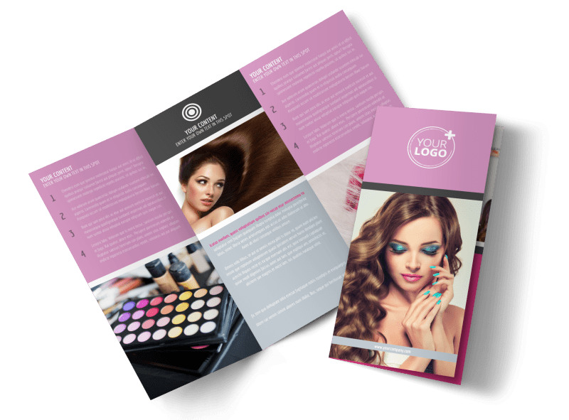 Professional Makeup Artist Brochure Template MyCreativeShop - Template to make a brochure