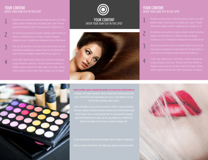 Professional Makeup Artist Brochure Template Preview 3