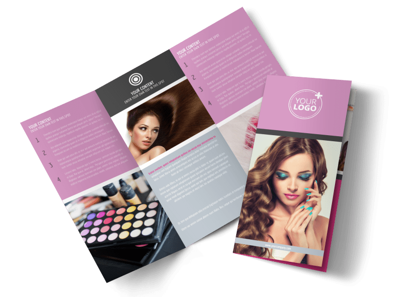 Professional Makeup Artist Brochure Template Preview 1