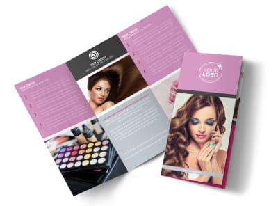 Professional Makeup Artist Tri-Fold Brochure Template