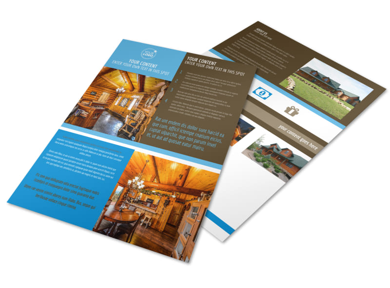 Log & Timber Frame Homes Flyer Template Preview 4