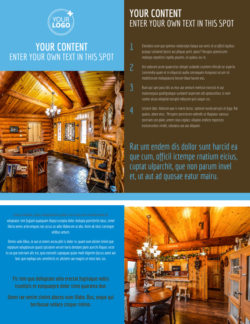 Log & Timber Frame Homes Flyer Template Preview 2