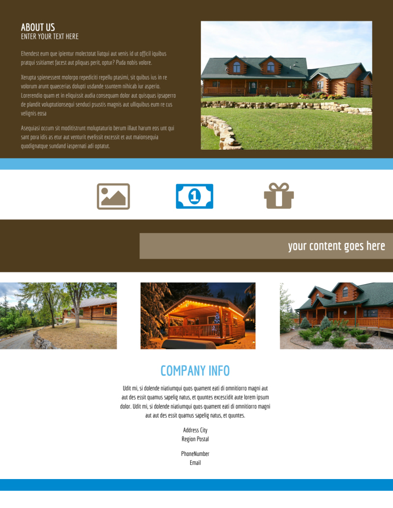 Log & Timber Frame Homes Flyer Template Preview 3