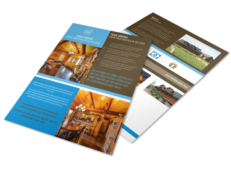 Log & Timber Frame Homes Flyer Template Preview 1