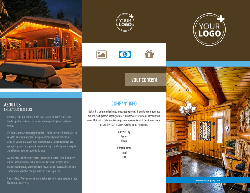 Log & Timber Frame Homes Brochure Template Preview 2