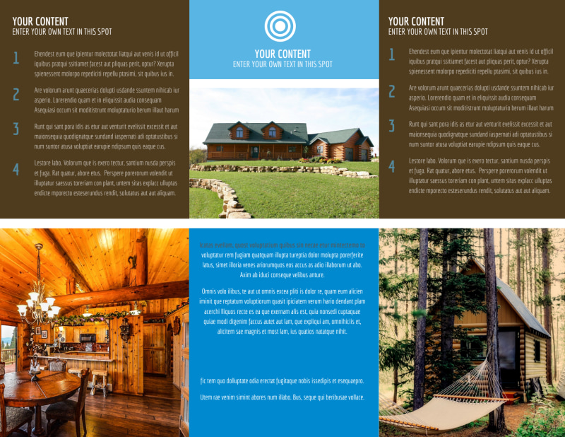 Log & Timber Frame Homes Brochure Template Preview 3