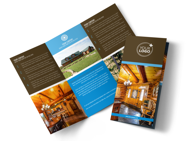 Log & Timber Frame Homes Brochure Template Preview 1