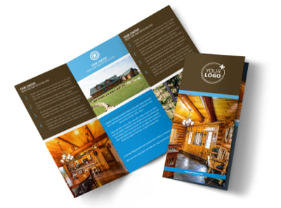 Log & Timber Frame Homes Tri-Fold Brochure Template