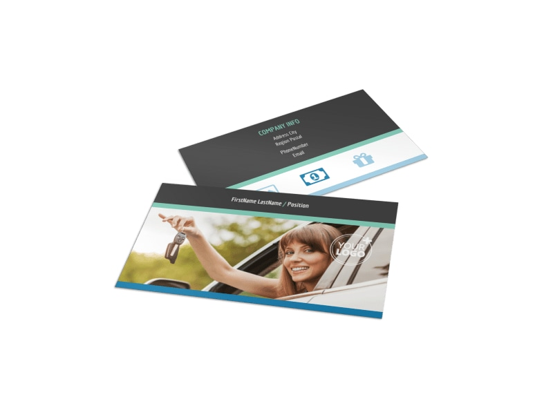 Local Driving School Business Card Template