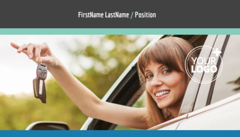 Local Driving School Business Card Template Preview 2