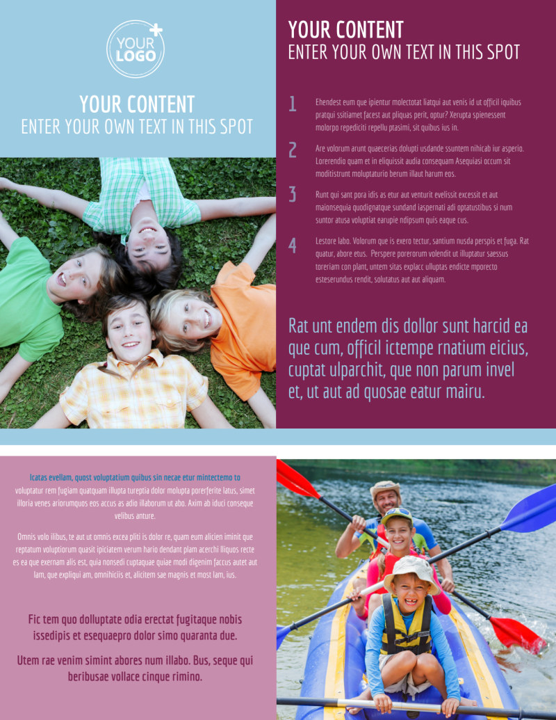 Outdoor Summer Camp Flyer Template Preview 2