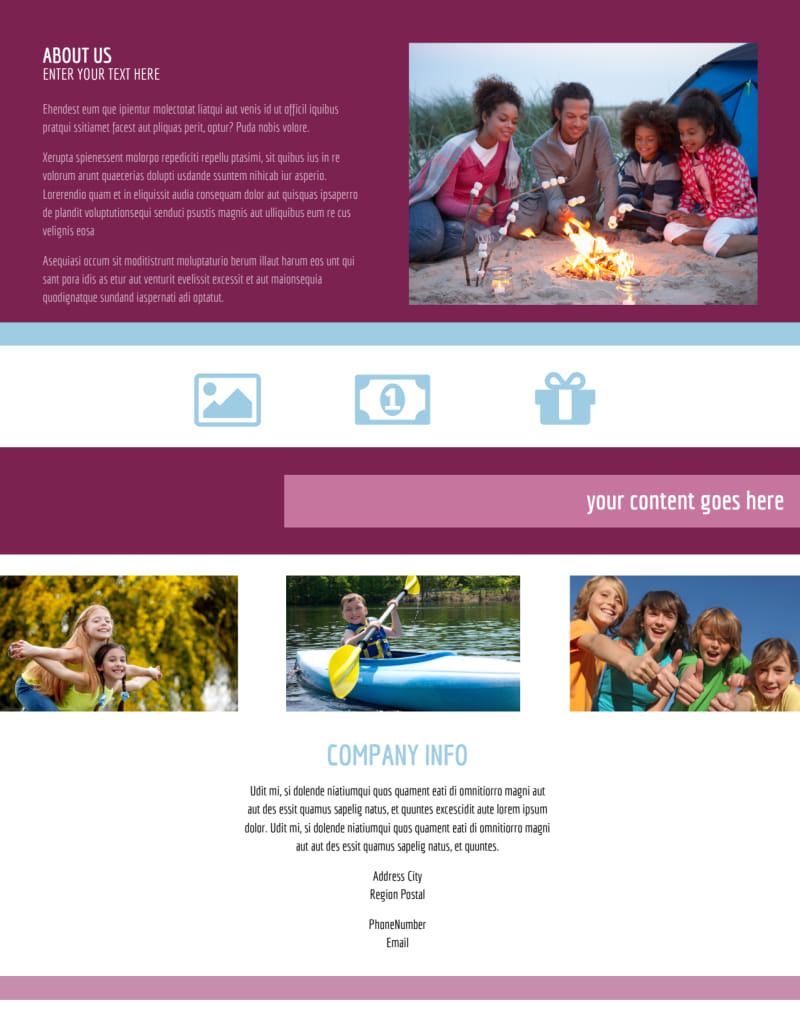 Outdoor Summer Camp Flyer Template Preview 3