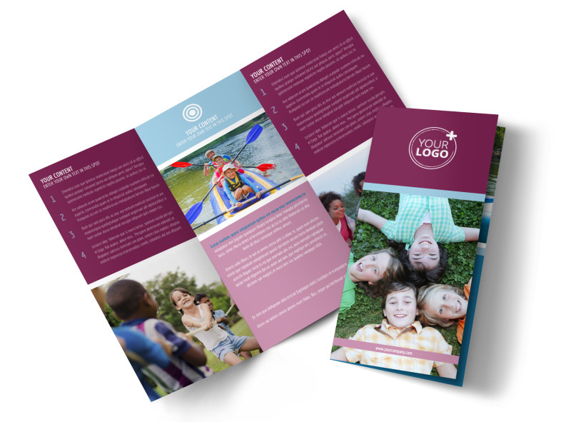 Outdoor Summer Camp Brochure Template  Mycreativeshop