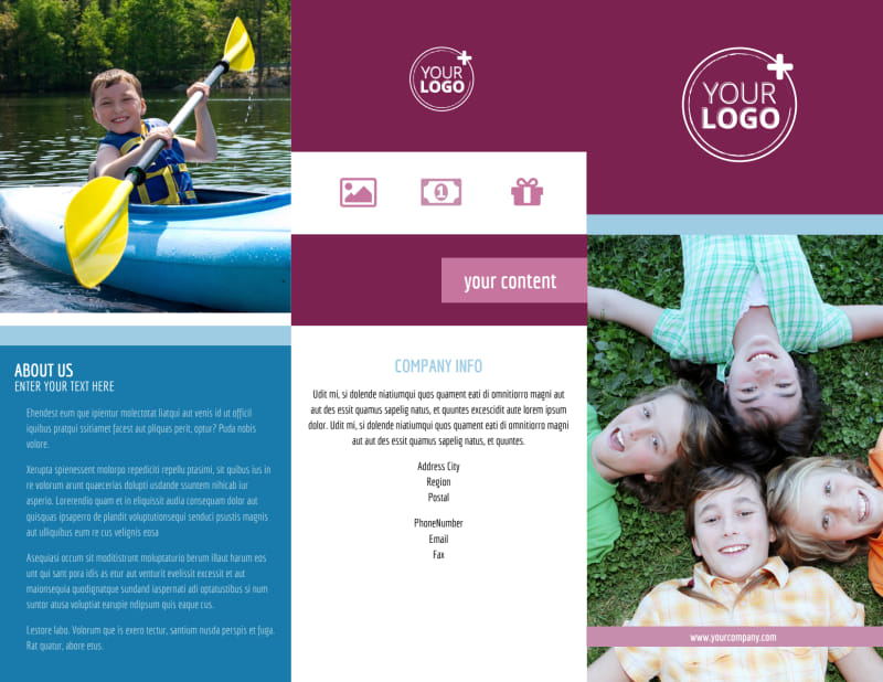 Outdoor Summer Camp Brochure Template Preview 2