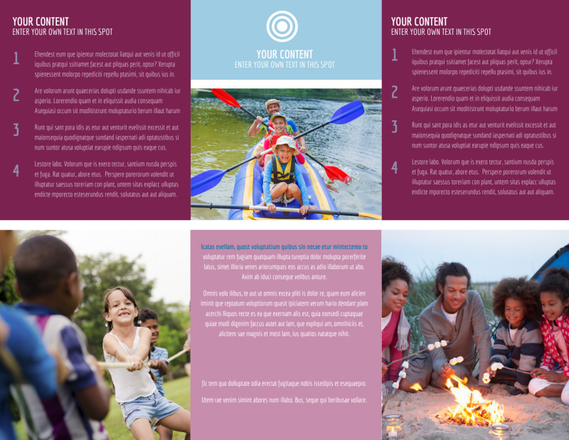 Outdoor Summer Camp Brochure Template Preview 3