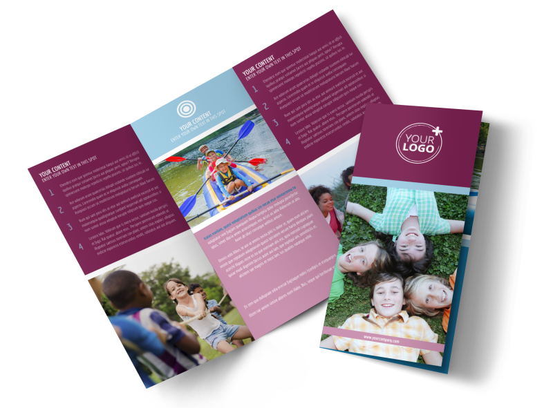 Outdoor Summer Camp Brochure Template Preview 1