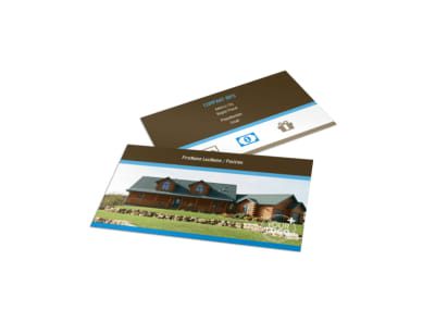 Log & Timber Frame Homes Business Card Template preview