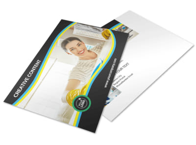 Maid Services Postcard Template 2