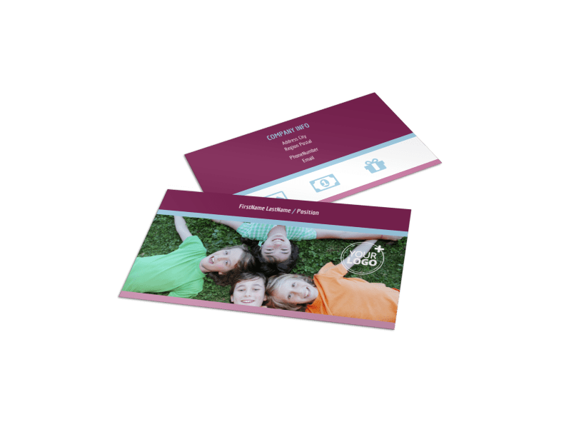 Outdoor Summer Camp Business Card Template Preview 1