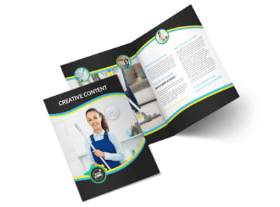 Maid Services Bi-Fold Brochure Template 2