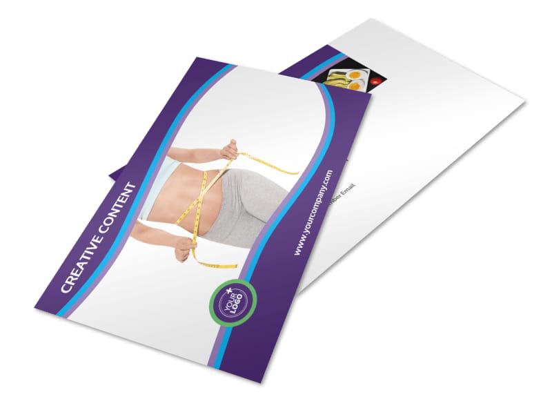 Weight Loss Clinic Postcard Template 2