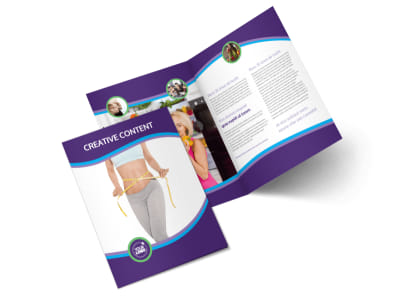 Weight Loss Clinic Bi-Fold Brochure Template 2 preview